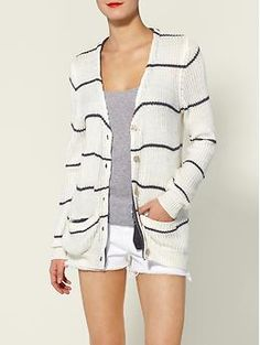 A+RO Jackie Striped Cardigan | Piperlime