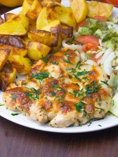 Szefowa w swojej kuchni. ;-): Polędwiczki z kurczaka pieczone w musztardzie i tartym serze Food And Drink, Meat Dish, Easy Meals