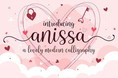 Anissa #modern #elegant #casual #wedding #invitation #cute #greetingcard #stationaryart #authentic #swash Handwritten Script Font, Cursive Fonts, Calligraphy Fonts, All Fonts, Modern Calligraphy, Wedding Fonts, Wedding Invitations, Best Free Fonts, Font Free