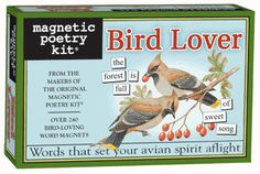 Magnetic Poetry for the Bird Lover! via SadiesHouse.com....I want!