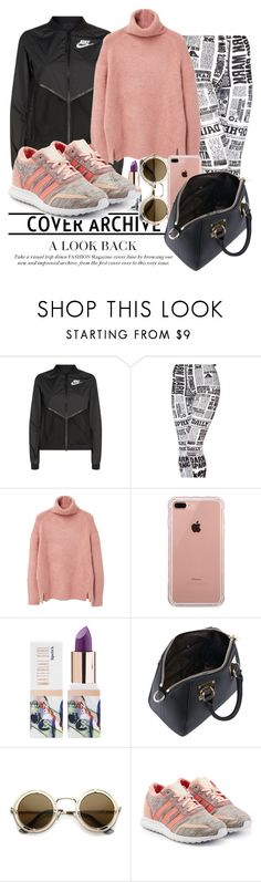 """""""Ohh $20 😍"""" by fashionista-sweets ❤ liked on Polyvore featuring NIKE, MANGO, Belkin, Teeez, ZeroUV and adidas Originals"""