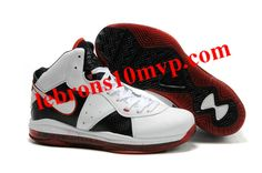cb327be89a83 Nike LeBron 8(VIII) Shoes White Black Varisty Red