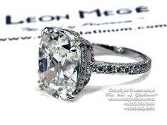 Antique cushion cut diamond engagement ring. one of the prettiest rings Ive ever seen!!!