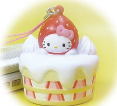 Hello Kitty Strawberry Shortcake Squishy!!!! I have never seen this before!