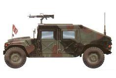 Humvee M1026 perteneciente al 82ª Compañía Policia Militar, 82ª División Aerotransportada, Panamá, 1989. Pin by Paolo Marzioli
