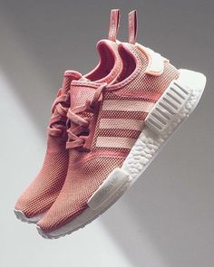 """NEW ARRIVALS: Women's adidas NMD Runner Casual """"Raw Pink/White""""  kickbackzny.com  click link in profile to shop"""