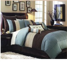Looking for Calking Size Blue Hudson Luxury Bedding Set ? Check out our picks for the Calking Size Blue Hudson Luxury Bedding Set from the popular stores - all in one. King Size Comforters, Queen Comforter Sets, Bedding Sets, King Comforter, Brown Comforter, Dorm Bedding, Queen Duvet, Home Bedroom, Bedroom Decor