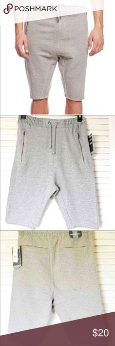 Sweat Shorts Joggers Size Small Joggers Sweat Shorts Elastic at the waist Pull on design with drawstring  Zip Pockets at Front  Pockets at the back  Cotton Machine washable  Retail $48  Small fit form 28 To 32 Ps. the color of the joggers is a bit different because of the light I hope you understand price is firm unless you bundle   No Lowballing Available Small,  ,X Large Shorts