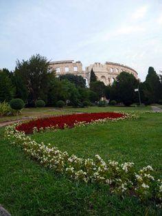 Pula-Arena-behind-the-garden-Pula-Croatia