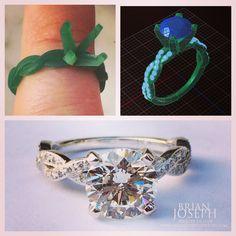 #engagement #bridetobe #diamondring #infinityring #rounddiamond  Custom Designs - Brian Joseph Jewelry