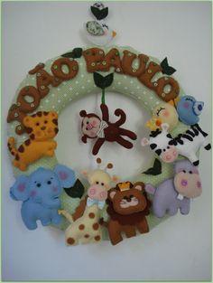 Guirlanda Safari - Porta de Maternidade | Tá em Casa | 396872 - Elo7