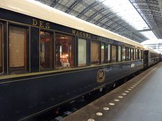 Pinned says: Orient express in station. It leaves from London to Prague, Rome, Venice and Vienna. It travels through the beautiful countryside of Switzerland and Germany. Istanbul is the final destination. Returning in reverse, of course.