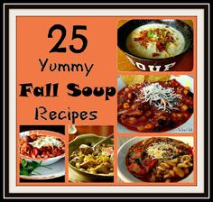 25 Yummy Fall Soup Recipes From sixsistersstuff.com #soup #fall #slowcooker