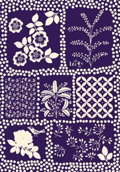 print for batik pattern Motifs Textiles, Textile Prints, Textile Patterns, Textile Design, Fabric Design, Lino Prints, Block Prints, Illustration Blume, Pattern Illustration