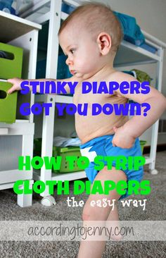 How to strip cloth diapers the easy way.