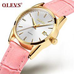 #DealOfTheDay #BestPrice OLEVS Luxury Brand Women Leather Sports Watches Ladies Wrist Watch Female Quartz Clock For Girl Watch Waterproof…