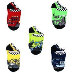 Blaze and the Monster Machines Boys 5 pack Socks (4-6 Toddler, Blaze Black)