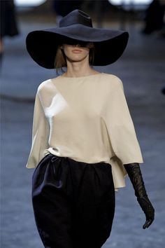lanvin. The wide brimmed hat!