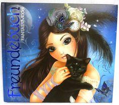 Depesche 8051 A Fantasy Model - Freundebuch blau Katze Top Model Mystic schwarz in Sammeln & Seltenes, Serien & Lizenzprodukte, Diddl | eBay