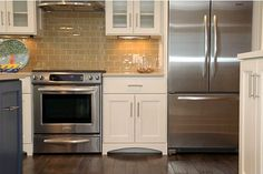 Hazelnut Tone Shaker Kitchen Backsplash Subway Tile Design, Pictures, Remodel, Decor and Ideas - page 31