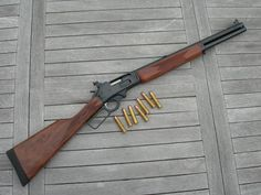 "Marlin 45-70 lever action 18 1/2"" barrel Walnut stock One of my favorite guns to shoot."