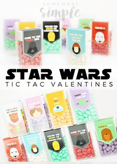 Star Wars Valentine Tic Tac Labels - Somewhat Simple- THESE ARE THE ORIGINAL DESIGN- Designer Sarah is AMAZING