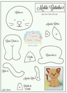 felt toys New Sewing Toys Patterns Christmas Ideas Felt Animal Patterns, Stuffed Animal Patterns, Stuffed Animals, Diy Cat Toys, Felt Templates, Applique Templates, Applique Patterns, Card Templates, Felt Cat