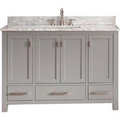 Avanity Modero Chilled Grey Vanity Combo - Overstock™ Shopping - Great Deals on Bathroom Vanities