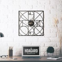 (New) Metal Wall Clock - Golden Section