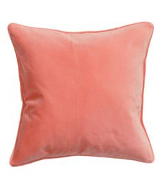 Cushion cover in cotton velvet with piping at edges. Concealed zip. Size 16 x 16 in.
