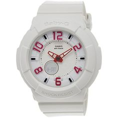 Casio Women's Baby-G BGA133-7B White Resin Quartz Watch with White Dial -- More info could be found at the image url. (This is an affiliate link) #Accessories