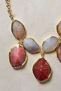 Anthropologie - Gilded Agate Necklace