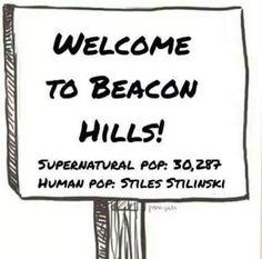 teen wolf, beacon hills, and stiles stilinski afbeelding