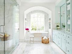 Brilliant Spa Inspired Master Bathroom Bathroom Design Choose Floor Plan Also Marble Bathroom Lovely Interior. Part of Marble Bathroom on lacuisineinc. Marble Bathroom Floor, White Marble Bathrooms, Marble Floor, Carrara Marble, Tile Floor, Bathroom Flooring, Bathroom Cabinets, Bathroom Vanities, Marble Bathtub