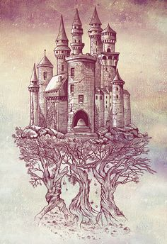Poster | CASTLE IN THE TREES von Rachel Caldwell | more posters at http://moreposter.de