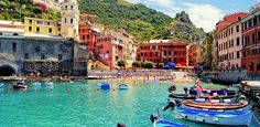 Vernazza, Italy With Crayola-colored houses and jutting cliffs, this Northern Italian coastal gem is just begging for the Instagram treatment.  Where to stay: Three Bedroom Villa (€200 per night)    Read more: 11 Insanely Beautiful Small Towns From Around the World | PureWow National  Sign Up For PureWow's Daily Email