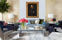 Victoria Hagan proves that Old Masters are fit for sprightly interiors in this living room. New Furniture, Outdoor Furniture Sets, Masters, Victoria Hagan, Art Prints For Home, Inspiration For Kids, Old Master, Old Art, Beautiful Space