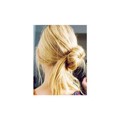 Casual Updo – Free Hair Style Gallery – Hair Photos ❤ liked on Polyvore featuring hair, hairstyles, models, hair styles and pictures