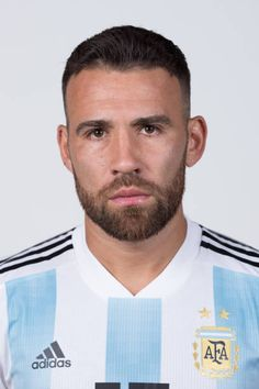 Nicolas Otamendi of Argentina poses for a portrait during the official FIFA World Cup 2018 portrait session on June 12 2018 in Moscow Russia Argentina Football Team, Fifa World Cup 2018, International Football, Colin Kaepernick, Moscow Russia, Poses, Manchester City, Soccer, Hairstyles