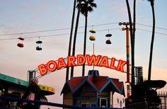 Santa Cruz historical Boardwalk on my trip with @ROXY