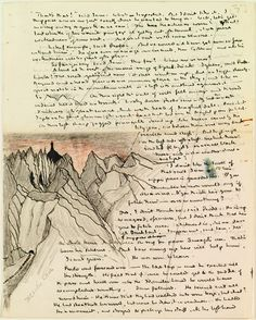 J.R.R. Tolkiens illustrated manuscript of Shelobs Lair