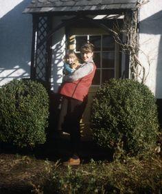 Sylvia Plath and Frieda, 1961