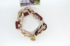 Charm Jewelry Leather Cord Brown Bangles Bracelets for Women