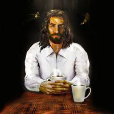 Jesus Book, Jesus Bible, Jesus Art, Coffee With Jesus, Jesus Christ Images, Good Morning Coffee, God Loves You, Believe In God, Set You Free