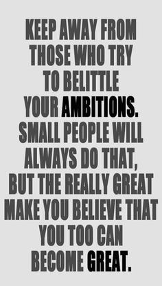 Stay away from small people #fitness #inspiration