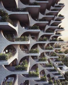 Architecture inspiration, Tel Aviv, Israel... Green Building by Penda Architects #Regram via @gentlemanmodern #greenbuilding