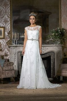 Benjamin Roberts 2352l Column Gown With A Strapless Neckline Lace Lique Overlay And Back On