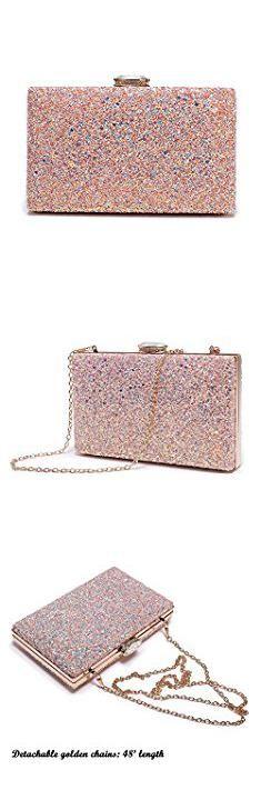 Pink Clutch Purse. Women's Elegant Sparkling Glitter Evening Clutch Bags BlingEvening Handbag Purses For Wedding Prom Bride(Pink). #pink #clutch #purse #pinkclutch #clutchpurse