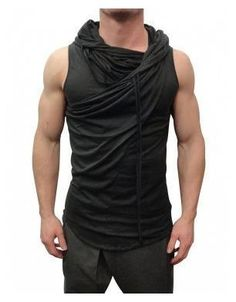 Delusion Clothing Trapeze Vest Black (Delusion Clothing ) (T-Shirts) Mens Fashion 2018, Mens Fashion Blazer, Fashion Women, Men's Fashion, Casual Mode, Casual Wear, Casual Shirt, Mode Sombre, Style Masculin