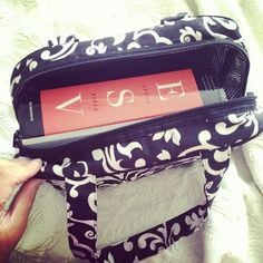 Thirty-One Cosmetic Bag ... Use it to carry a bible and a small note pad!